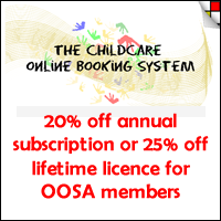 Up to 25% off Childcare Online Booking System for OOSA members