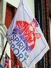 Flag from Bridport Banners