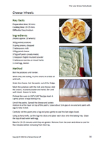 Cheese whirls recipe