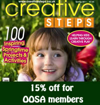 OOSA members get 15% off Creative Steps magazine