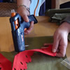 Using a hot-melt glue gun