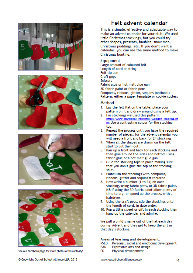 Advent Calendar Ideas Eyfs : A collection of winter themed activities for out school